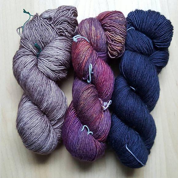 RetroRibShawl Wolle