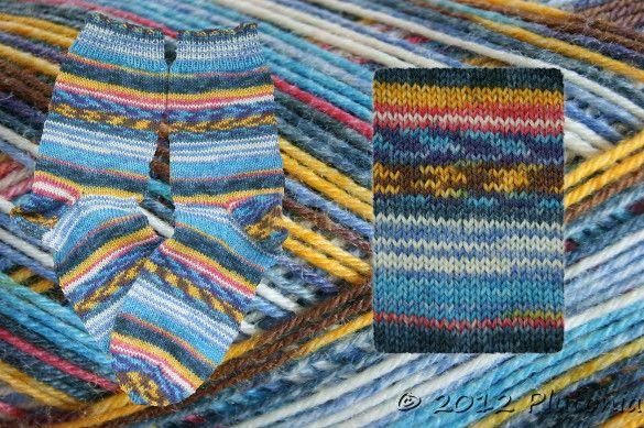 handgestrickte Socken aus Opalwolle in der Größe 38/39