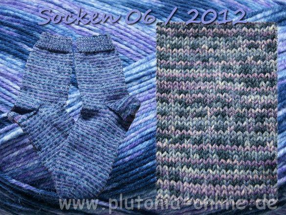 handgestrickte Socken aus Opalwolle in Größe 38/39