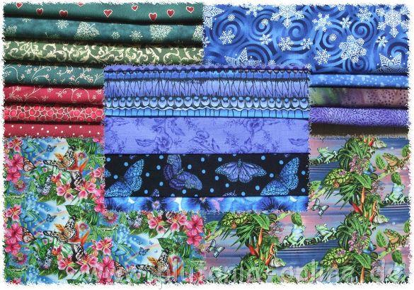 Mein neuster Stoffkauf bei ebay, Weihnachtsstoffe, blaue Stoffe